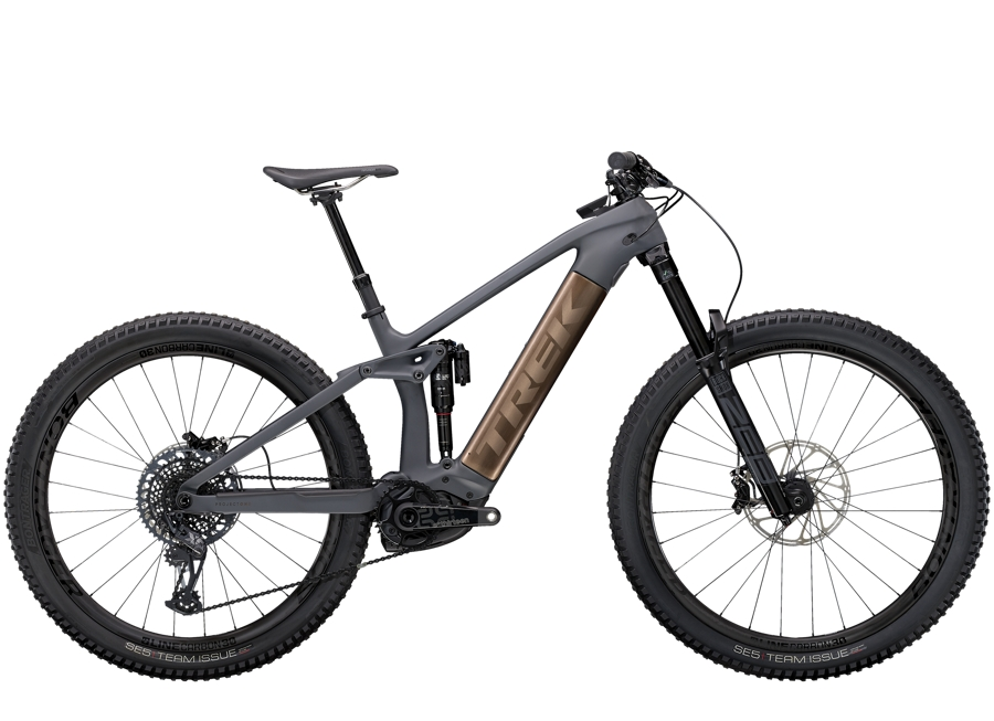 Trek Rail 9.9 L Solid Charcoal to Root Beer Ano Decal